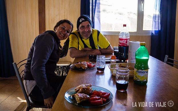 Con Silvio, el cocinero de Decavial