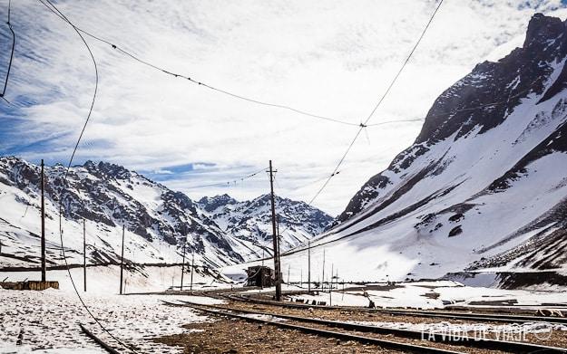 El Ferrocarril Trasandino llegaba en su punto más alto a los 4100 metros