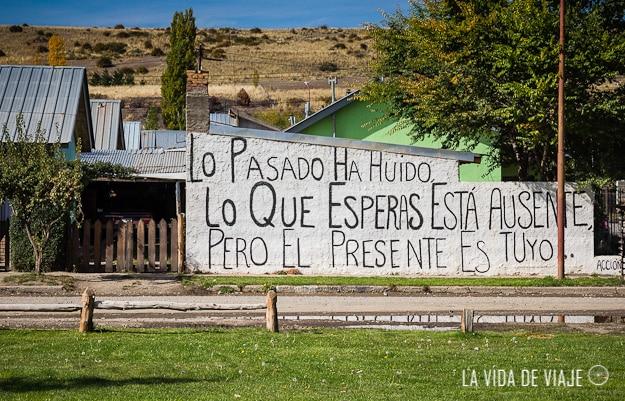 Acción poética en Trevelin, provincia de Chubut