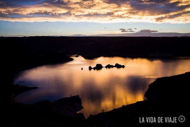 """El """"submarino"""" también en el dique de Valle Grande"""