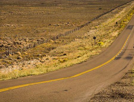 Ruta 40 en Chubut (rectas interminables)