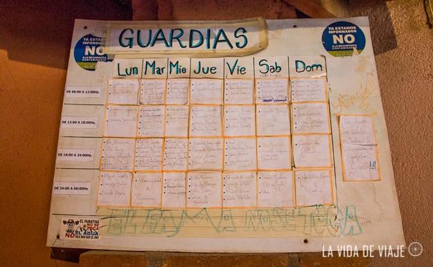 Cronograma de guardias