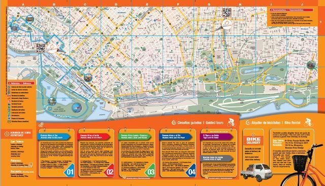 la bicicleta naranja-mapa