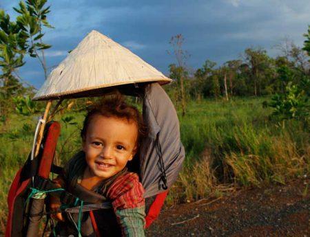 Viajar en bicicleta, viajar en familia