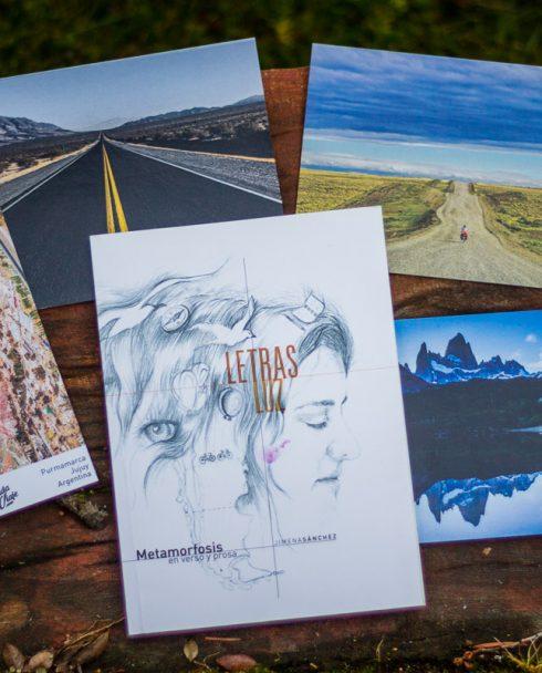 Letras Luz + postales y señalador La Vida de Viaje
