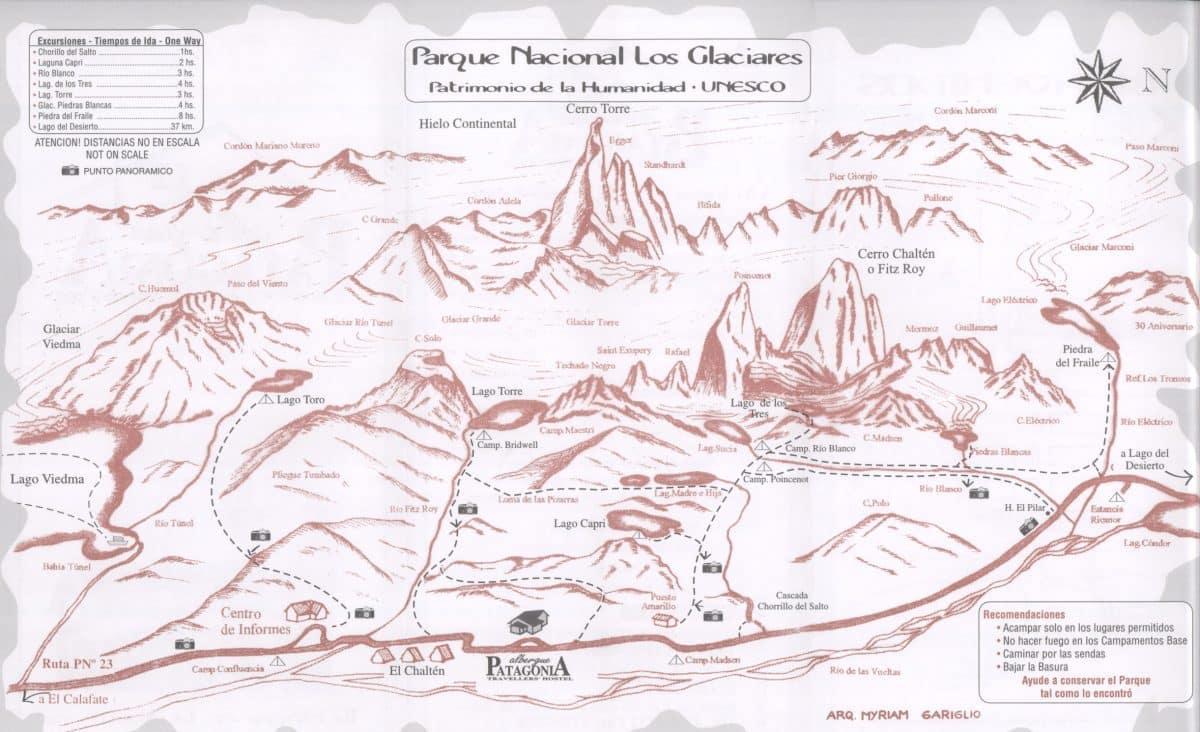 mapa_senderos_que hacer ver y comer_el chalten