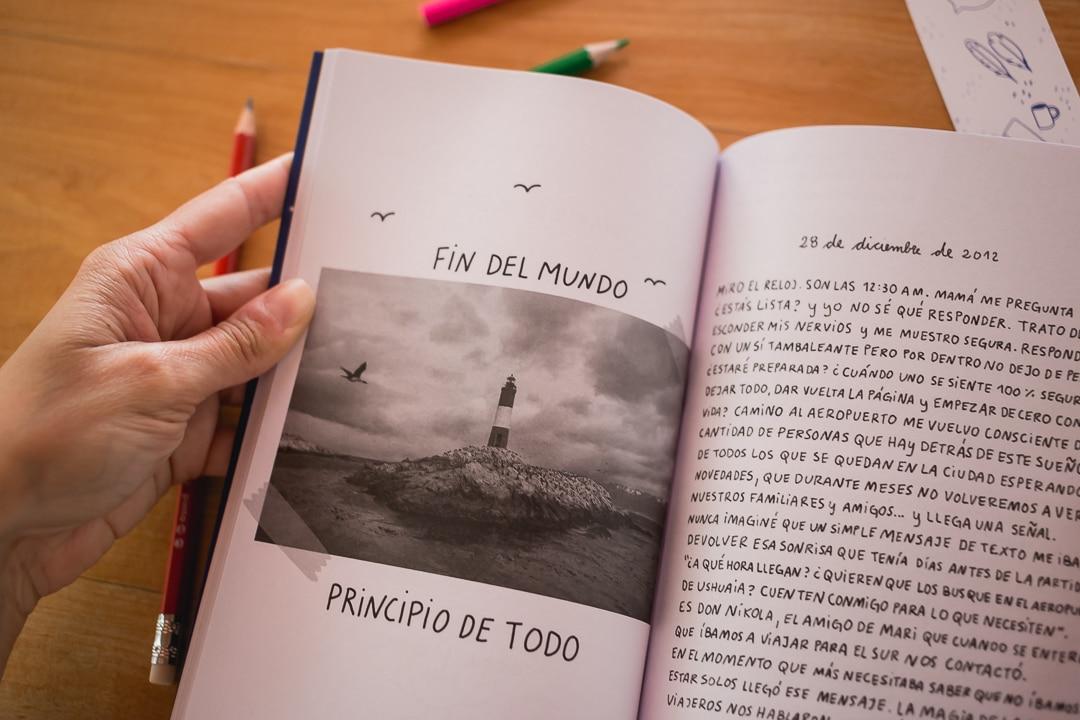 foto del faro del fin del mundo en el libro letras luz