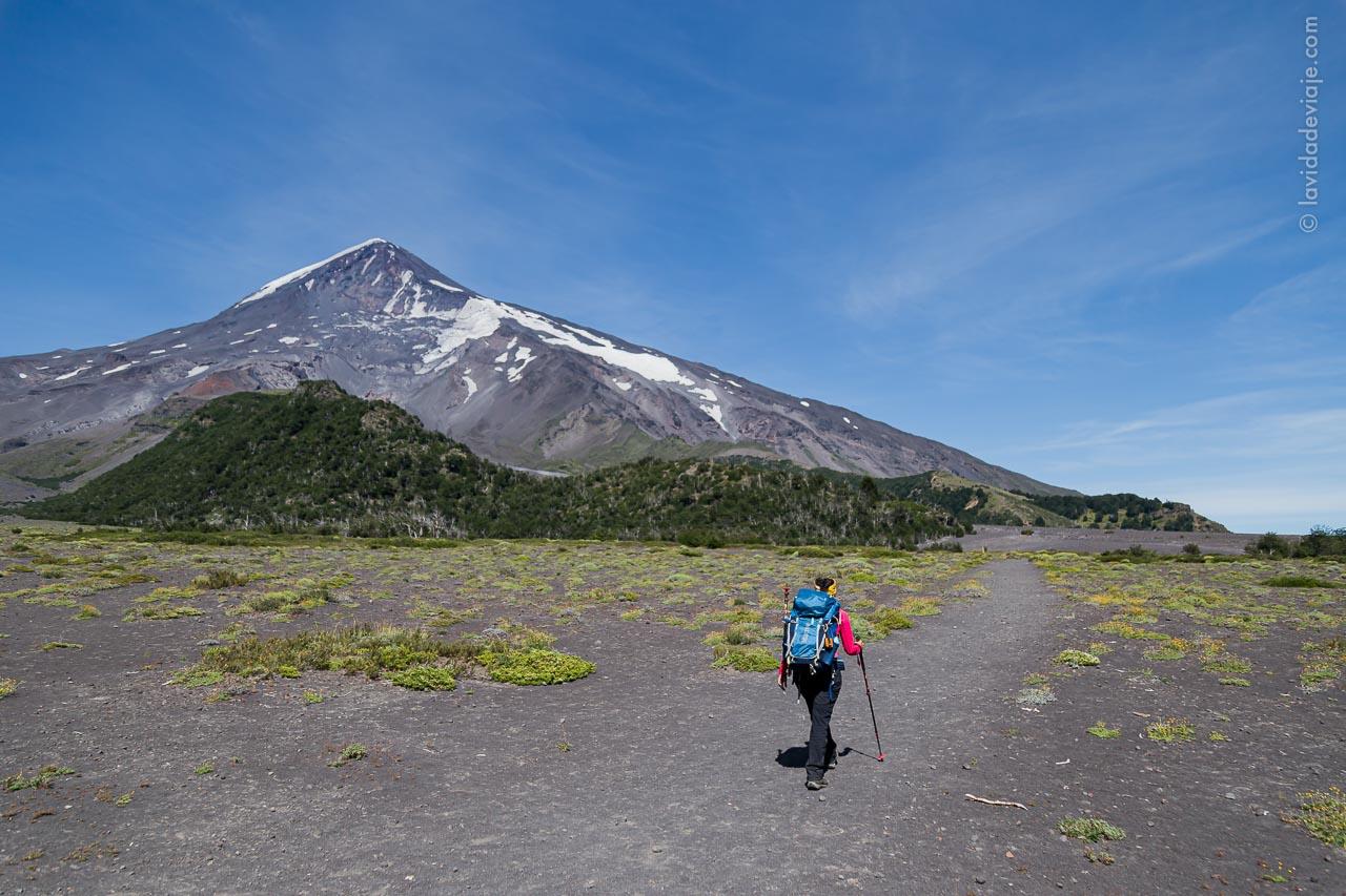 Base del volcán Lanín