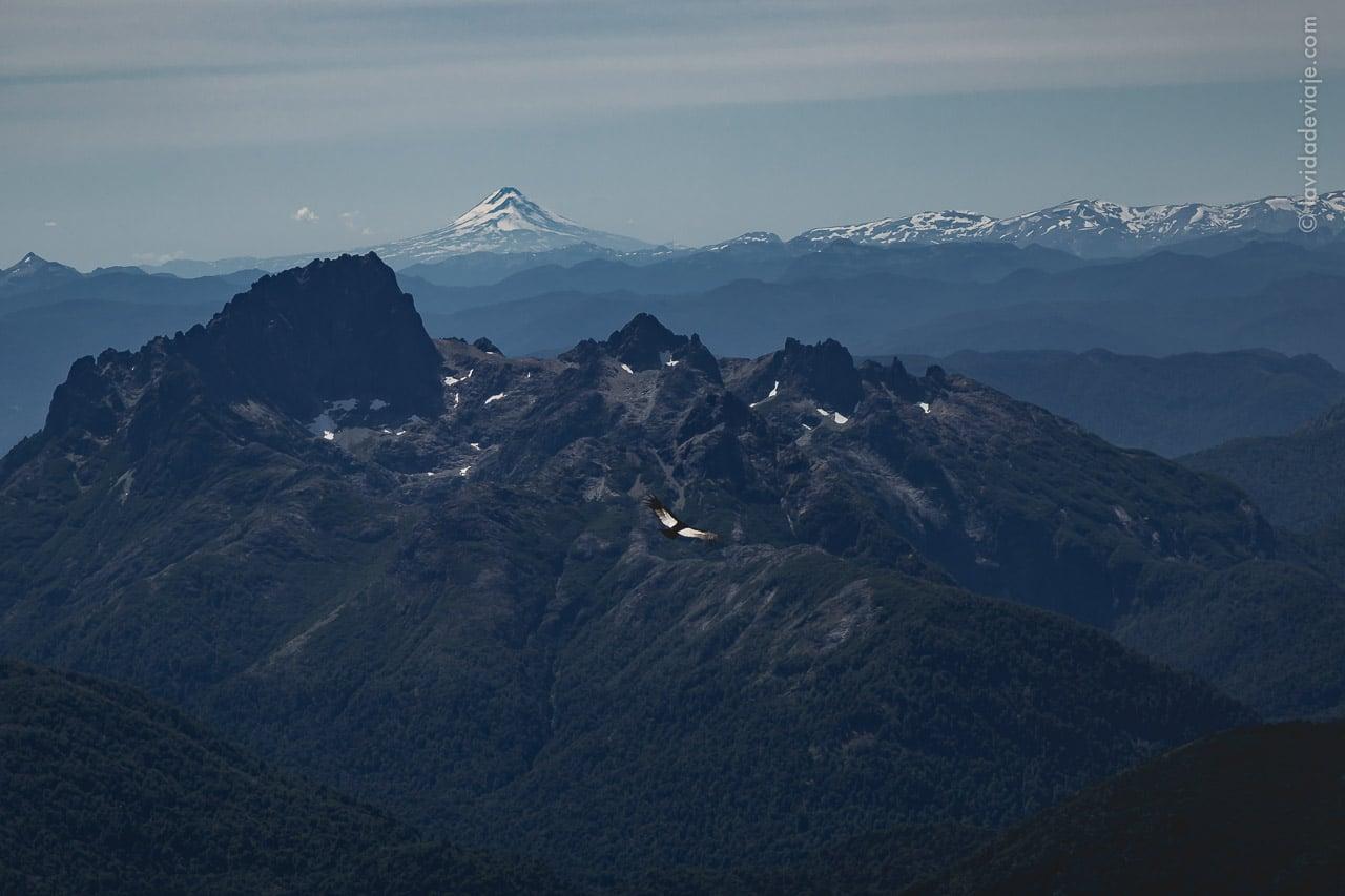 Vista desde el camino de mulas volcán Lanín