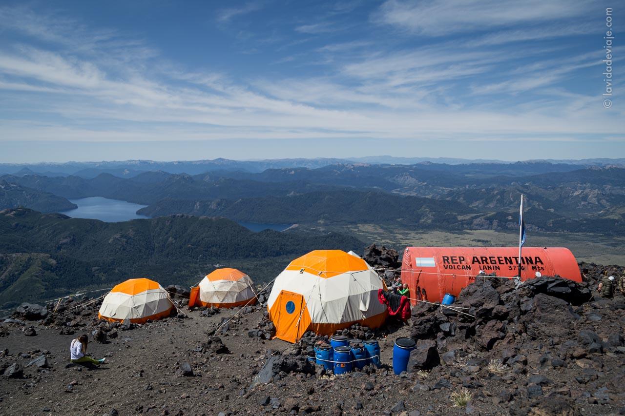 Refugio militar nuevo volcán Lanín