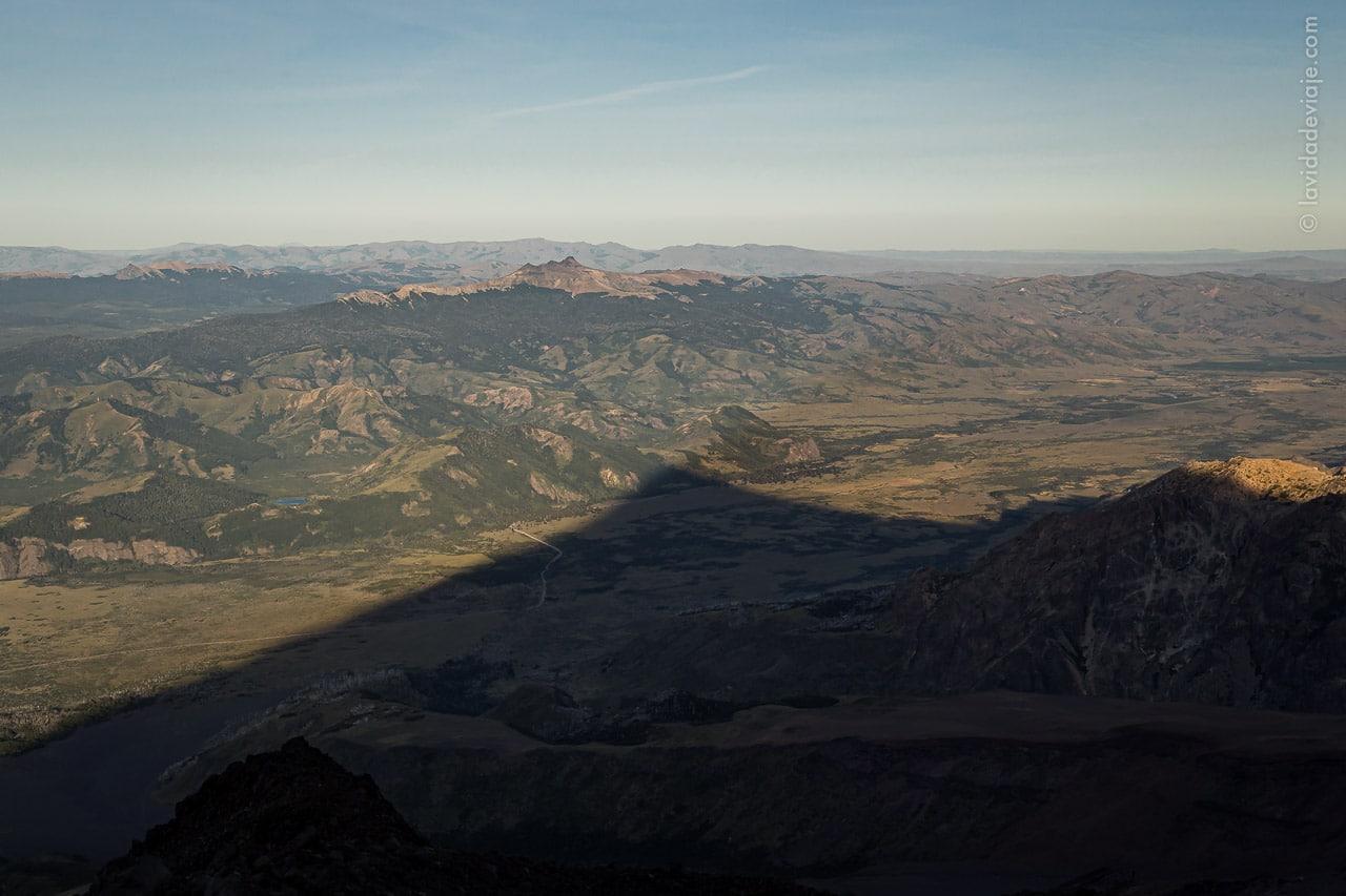 Vista desde los refugios del volcán Lanín